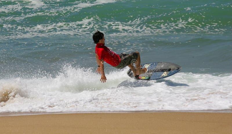 Sfida del Waterman - scremando - Xabi Olano fotografie stock