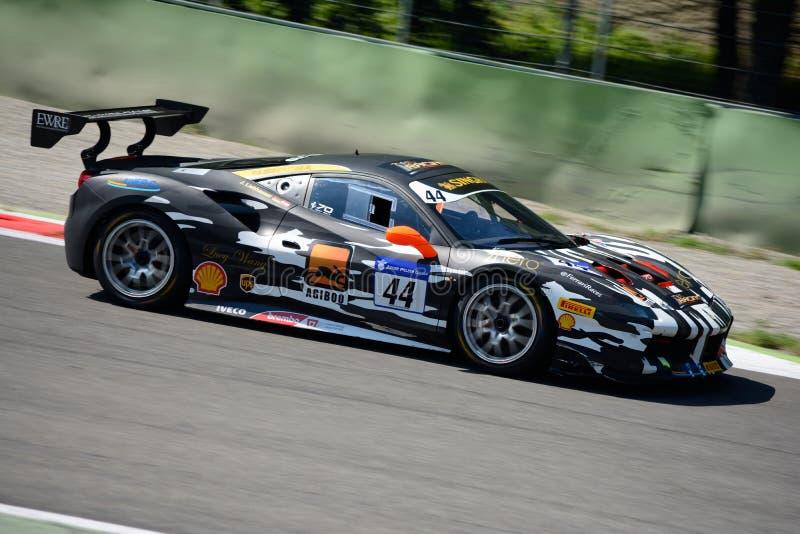 Sfida di Ferrari 488 del Motorsport di Gohm nell'azione fotografia stock libera da diritti