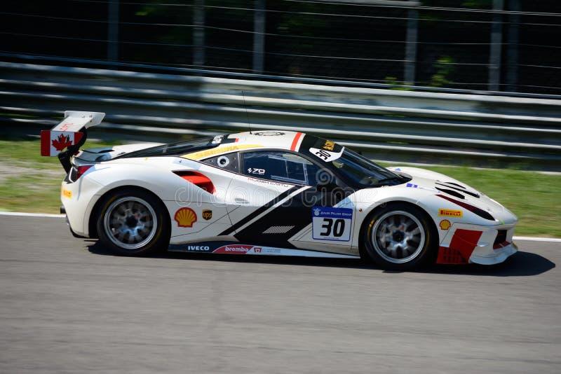 Sfida di Joshua Cartu Ferrari 488 immagine stock libera da diritti