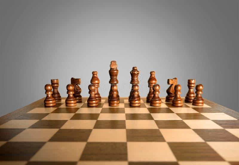 Sfida di scacchi fotografia stock libera da diritti