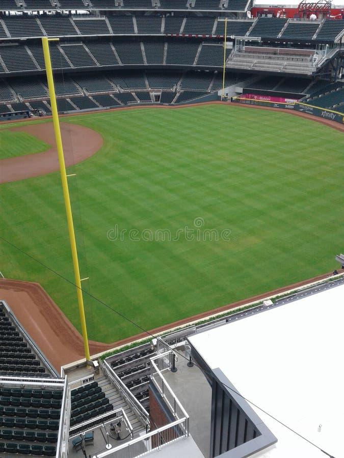 Sfida il campo di baseball fotografie stock