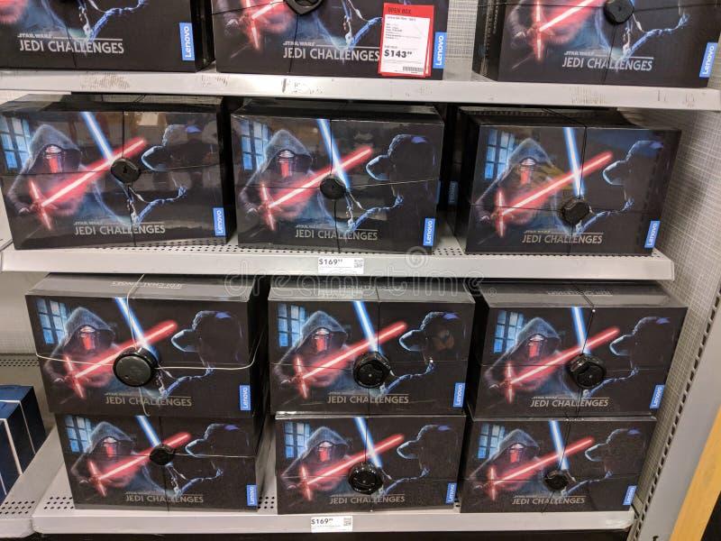 Sfide di Star Wars Jedi sull'affare dell'esposizione nel migliore dei casi fotografia stock