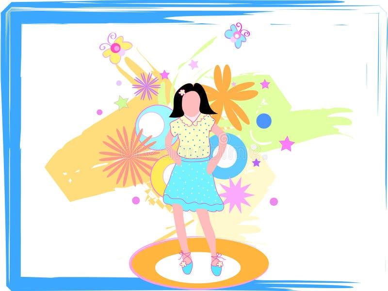 Sfilata di moda delle ragazze illustrazione vettoriale