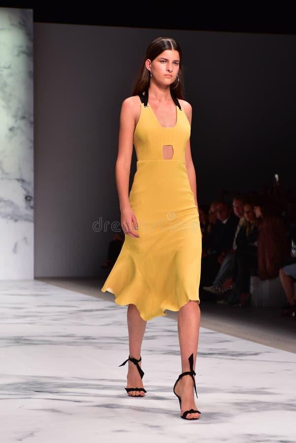 Sfilata di moda di Rebecca Vallance fotografia stock