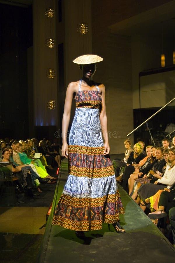 Sfilata di moda elegante tribale fotografia stock
