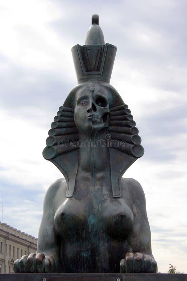 Sfinge del monumento alle vittime di repressione politica a St Petersburg immagine stock