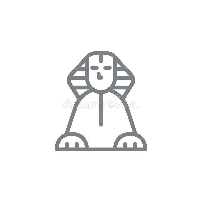 Sfinks ikona Element myphology ikona Cienka kreskowa ikona dla strona internetowa projekta i rozwoju, app rozw?j ikony premia royalty ilustracja