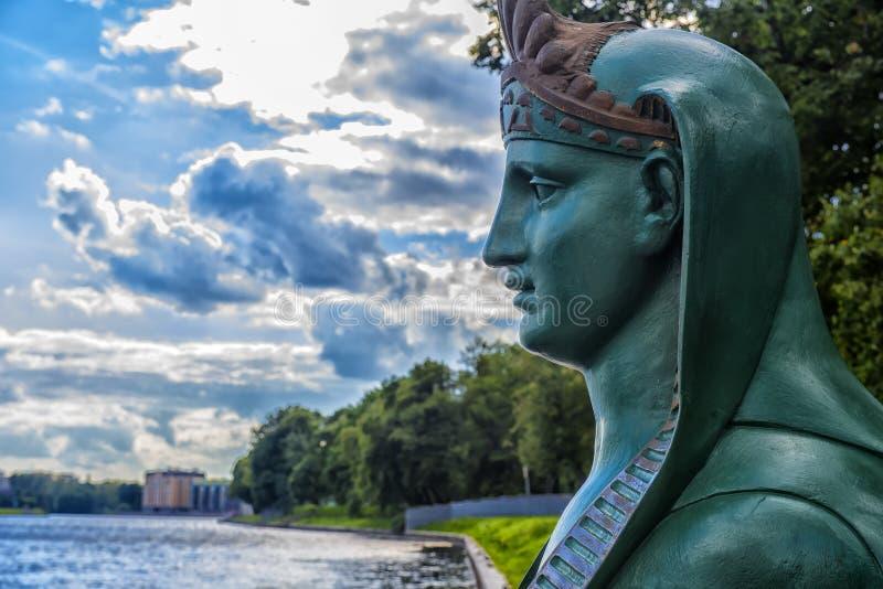 Sfinks na nabrzeżu w St Petersburg obraz royalty free