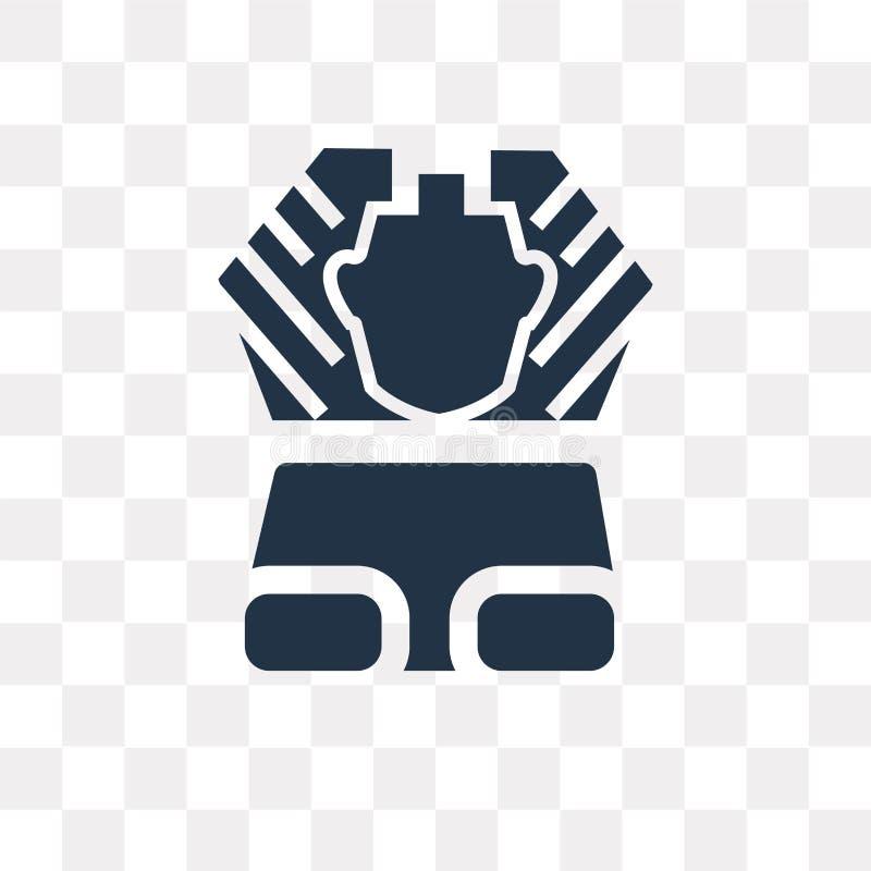 Sfinks wektorowa ikona odizolowywająca na przejrzystym tle, sfinks t ilustracja wektor