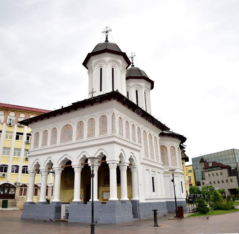 Sfintii Voievozi Katedralny Targ Jiu fotografia stock