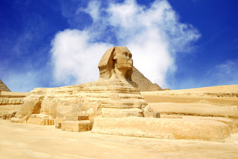 Sfinx Egypte stock foto