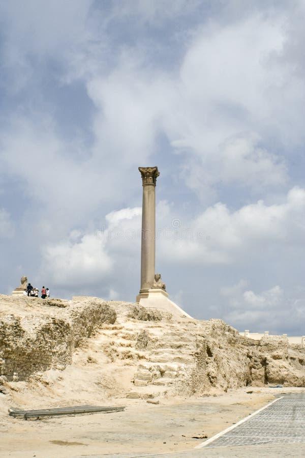 Sfinx en pijler royalty-vrije stock foto