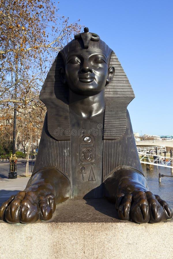 Sfinx op de Dijk van Londen royalty-vrije stock afbeeldingen
