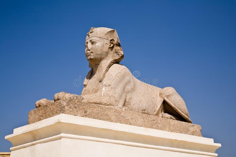 Sfinx på pelaren för Pompey ` s, Alexandria royaltyfria foton