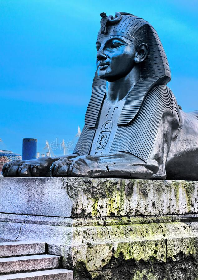 Sfinxinvallning london royaltyfri foto