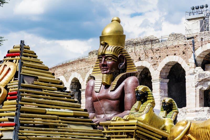 Sfinxstaty arkivbild