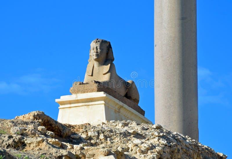 Sfinxstaty royaltyfri bild