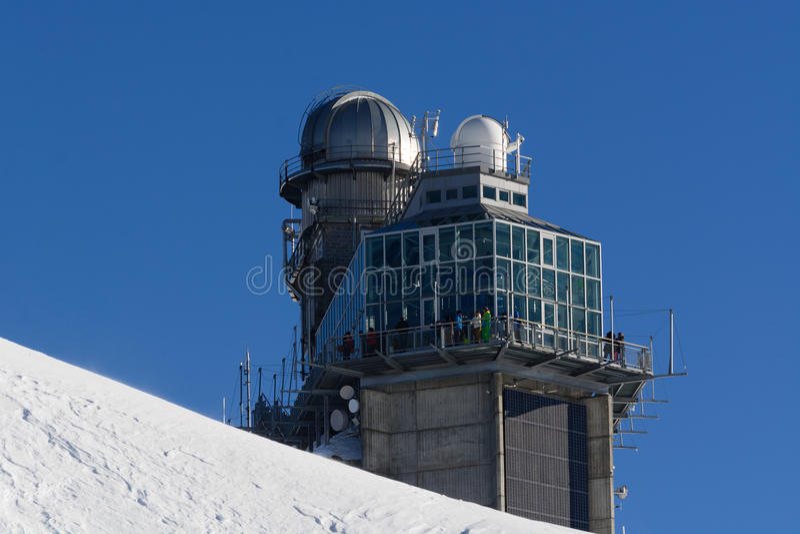 Sfinxwaarnemingscentrum/Jungfrau/Jungfraujoch/Bovenkant van Europa royalty-vrije stock afbeeldingen