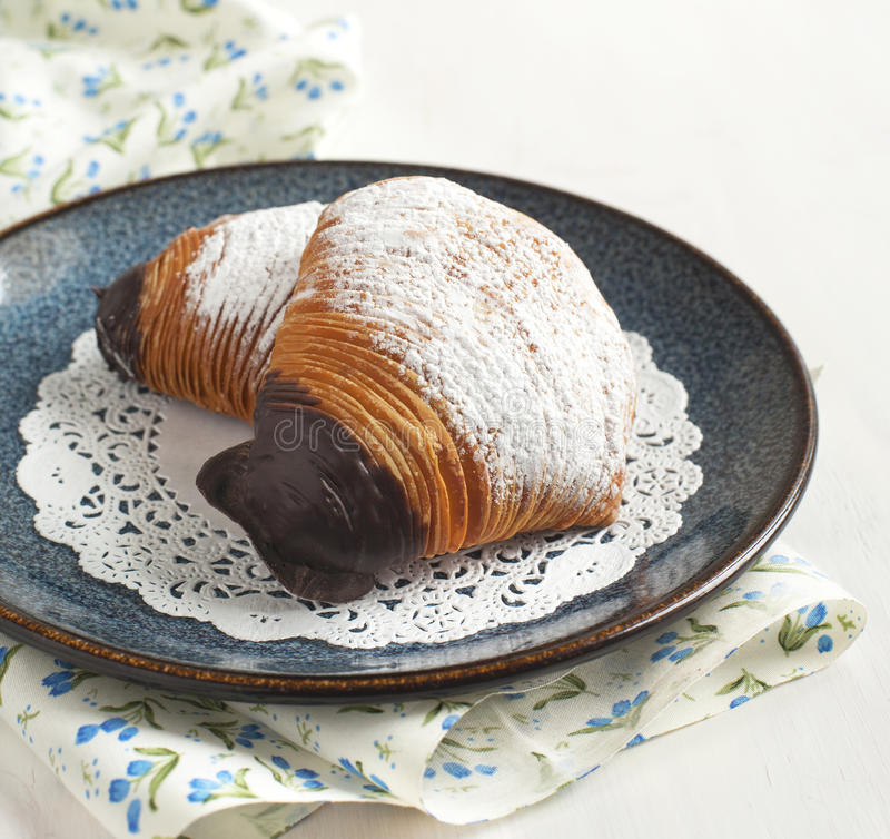 Sfogliatelle, раковина сформировало печенье стоковая фотография