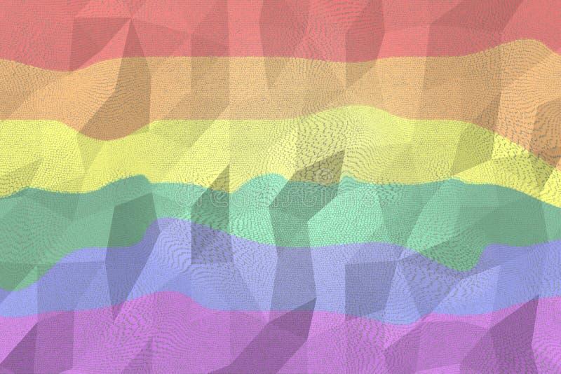 Sfondo abstract lgbt a colori arcobaleno generato digitalmente fotografia stock