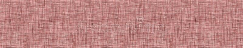 Sfondo di sfondo della texture francese di Linen grigio-rosso Maroon Vecchio modello in fibra di lino Ecru senza saldatura Tessut royalty illustrazione gratis