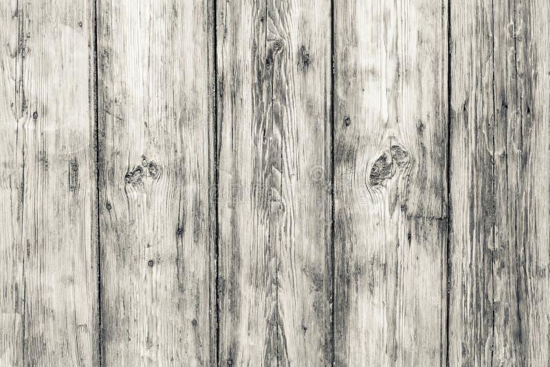 Sfondo di legno di vintage Vecchie schede bianche Superficie di legno legname di pianura Steccato di roccia, tavola di falegnamer immagini stock