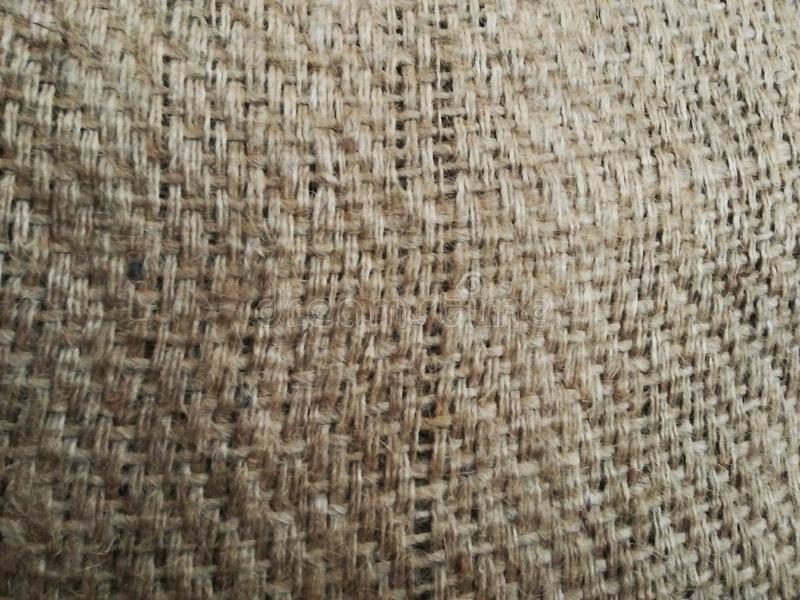 Sfondo di struttura di tessuto di sackcloth di Marco Hessian fotografie stock libere da diritti