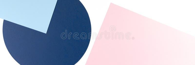 Sfondo di texture di fogli di moda in stile memphis Geometry Colore bianco, blu marino, blu chiaro e rosa pastello fotografie stock libere da diritti