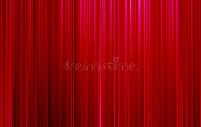 Sfondo festoso rosso, astrazione, brillante, linee, sfocato, tendine royalty illustrazione gratis
