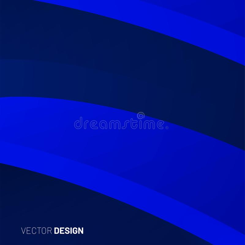 sfondo geometrico astratto onda di forma 3d illustrazione per Wallpaper, Banner, Background, Card, landing page illustrazione vettoriale