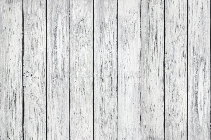 Sfondo naturale dei bordi di legno bianchi della plancia verticali fotografia stock