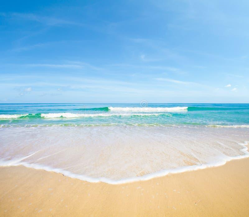 Sfondo naturale del paesaggio della spiaggia del mare fotografia stock