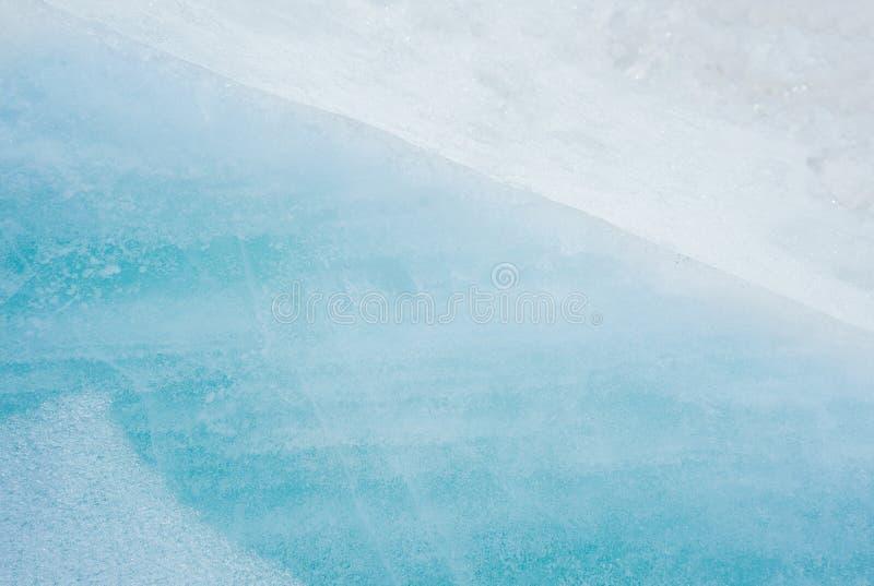 Sfondo naturale dell'estratto blu del ghiaccio Elementi del ghiacciaio Primo piano immagine stock