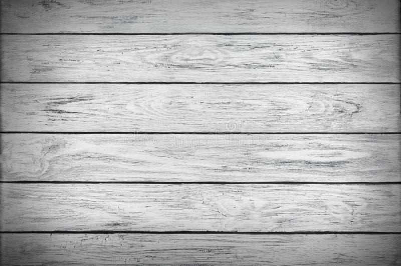 Sfondo naturale dell'orizzontale di legno bianco dei bordi della plancia fotografia stock libera da diritti