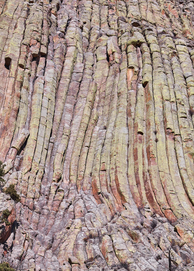 Sfondo naturale di formazioni rocciose della torre dei diavoli immagini stock