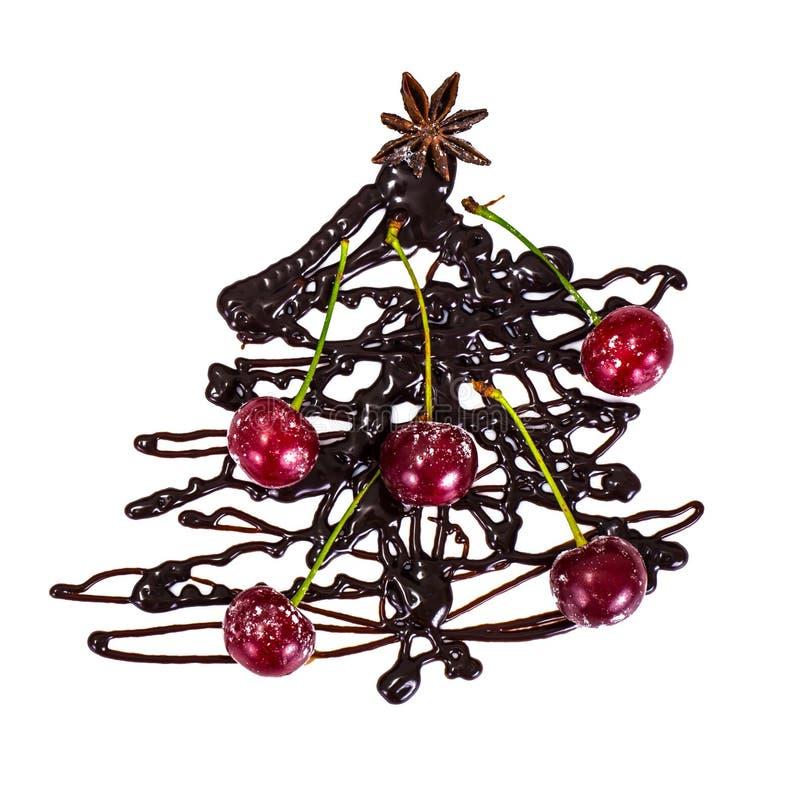 Sfondo naturale di Natale astratto su bianco Cioccolato Cristo immagini stock