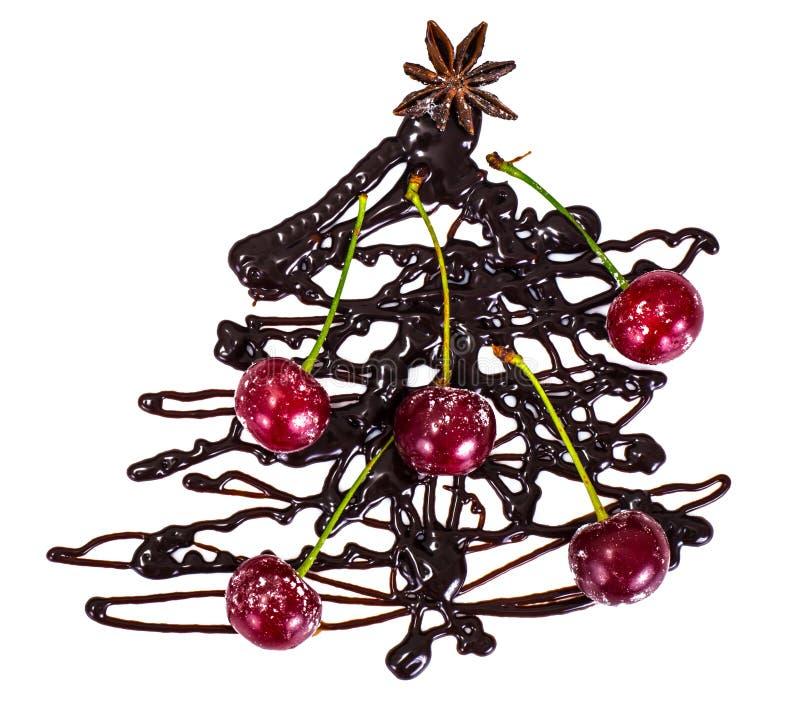 Sfondo naturale di Natale astratto su bianco Cioccolato Cristo fotografia stock libera da diritti