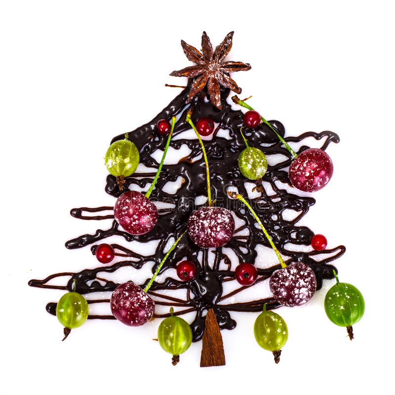 Sfondo naturale di Natale astratto su bianco Cioccolato Cristo immagini stock libere da diritti