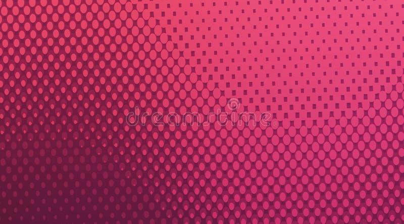 Sfondo semitono colorato di colore rosa,sfondo punteggiato fotografie stock