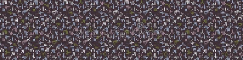 Sfondo texture Di Bordo Di Cuore Variegata Su Tweed A Maglia A Magg. Simbolo geometrico Woolen Cozy Winter illustrazione vettoriale