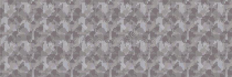 Sfondo texture Di Bordo Di Cuore Variegata Su Tweed A Maglia A Magg. Simbolo geometrico Woolen Cozy Winter illustrazione di stock