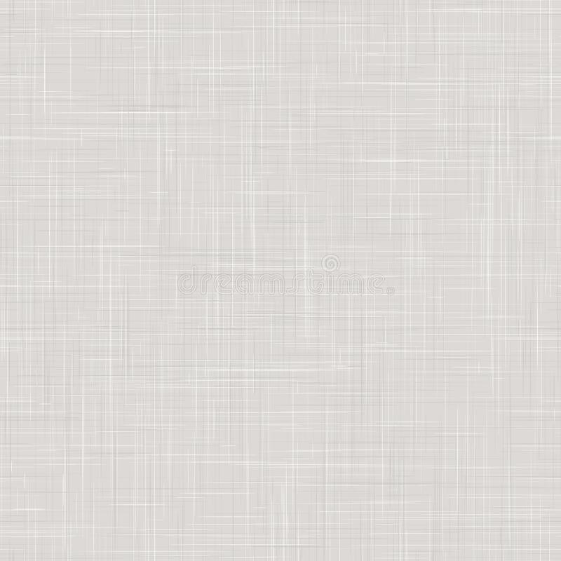 Sfondo texture di linea Stile francese grigio bianco sfumato Modello Neutral Unbleae Fibre Di Lino Ecru Senza Saldatura royalty illustrazione gratis