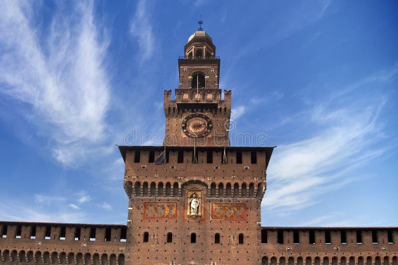 Sforza的城堡-米兰意大利 免版税库存照片