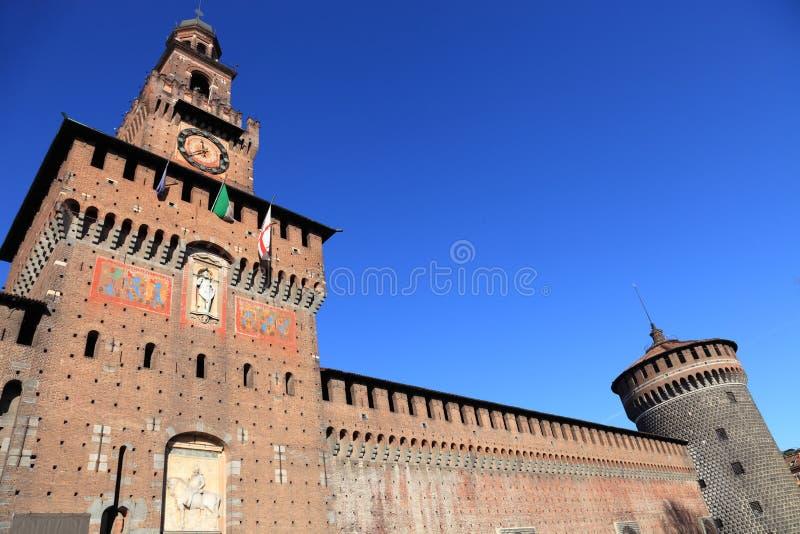 sforza милана s Италии замока стоковые фотографии rf