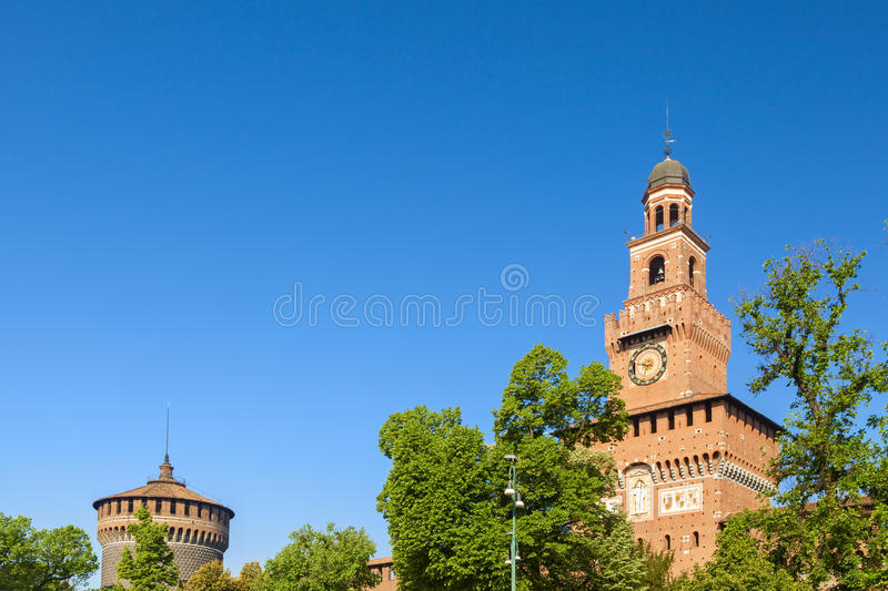 Sforza castle in the city of milan royalty free stock photo