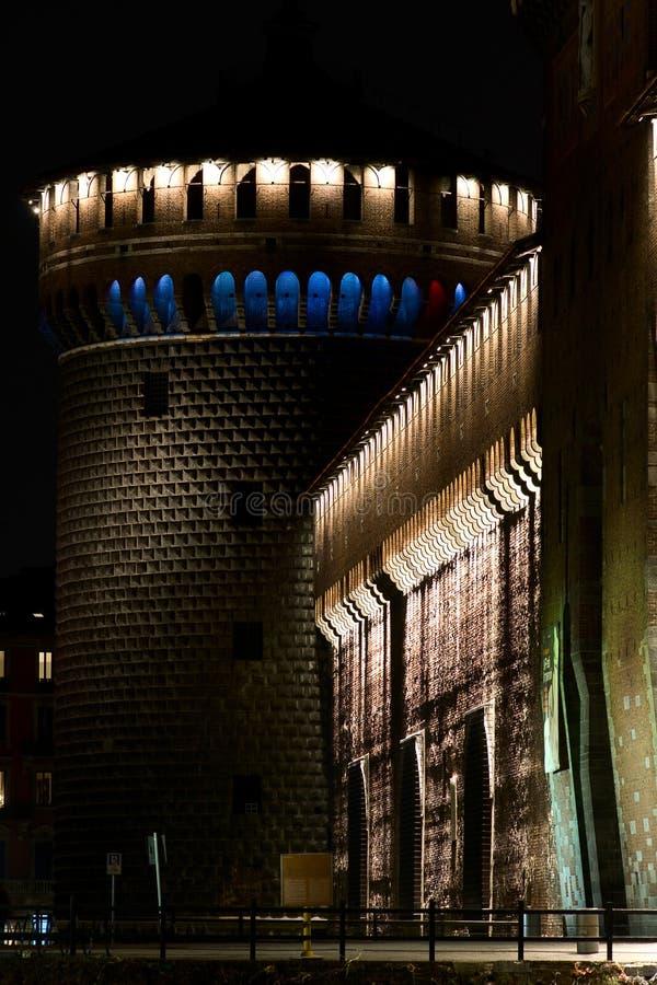 Sforza Castle fortress Milan stock photography