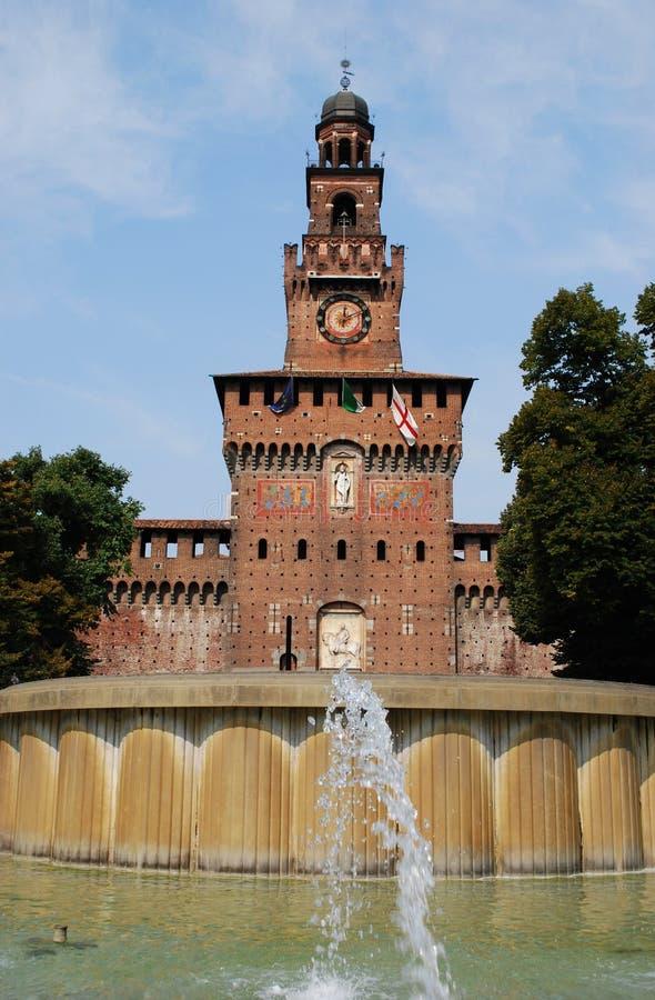 Sforza castle, Milan stock images