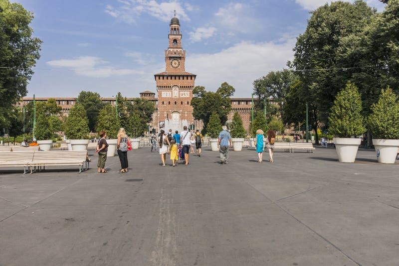 Sforza Castle in Milan, Italy royalty free stock photos