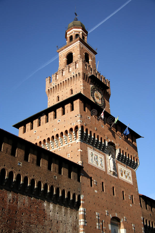 Download Sforza Castle In Milan, Italy Stock Image - Image of tower, milan: 37276395