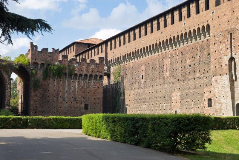 sforza de l'Italie Milan de château image stock